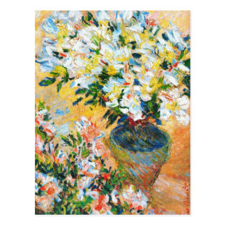 White Azaleas in a Pot, 1885 Claude Monet Postcard