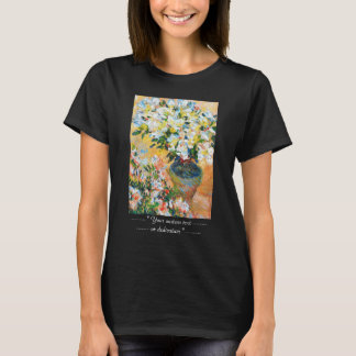 White Azaleas in a Pot, 1885 Claude Monet T-Shirt