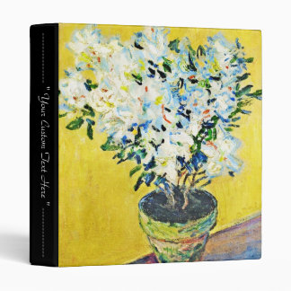 White Azaleas in a Pot Claude Monet 3 Ring Binder