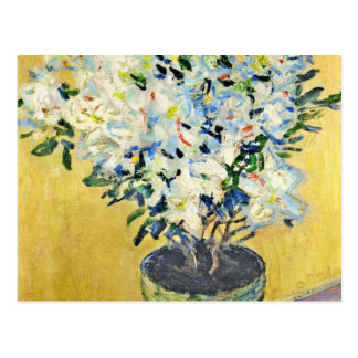 White Azaleas in a Pot -  Claude Monet Postcard