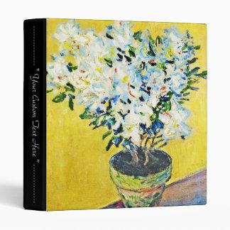 White Azaleas in a Pot Claude Monet Vinyl Binder