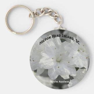White Azaleas Keychain