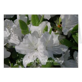 White Azaleas Mothers Day Card