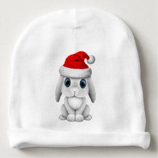 White Baby Bunny Wearing a Santa Hat Baby Beanie
