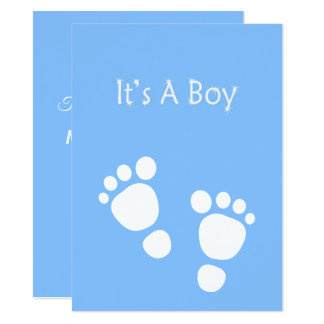 White baby foot - It's a boy announcement