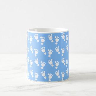 White baby foot - It's a boy baby-shower mug