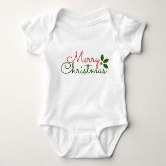 WHITE BABY JERSEY BODYSUIT : CHRISTMAS