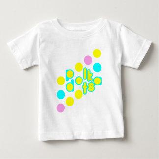 White Baby Jersey T-Shirt w/ cute Polka Dot Design