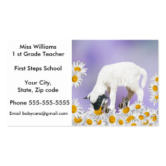 White Baby Lambs first steps Business Card