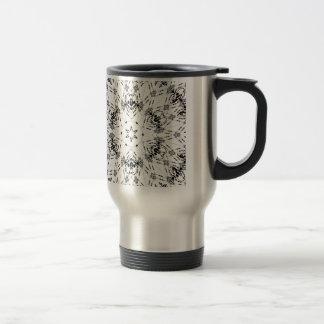 white bandana like design with skulls travel mug