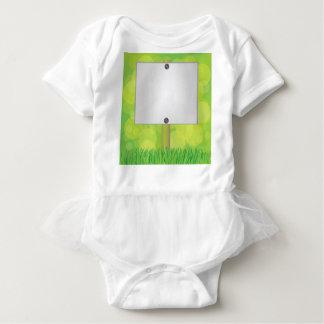 White banner baby bodysuit