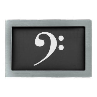White Bass Clef Belt Buckles