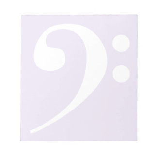 White Bass Clef Notepad