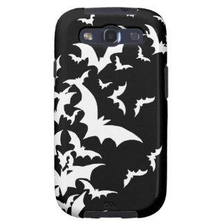 White Bats on Black Galaxy S3 Case