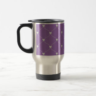 white bauble hearts home decors and gifts travel mug