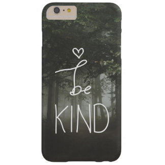 White Be Kind Quote Cute Heart Typography Girly Barely There iPhone 6 Plus Case