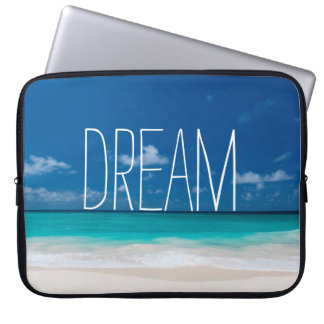 White Beach and Blue Sky Laptop Sleeve