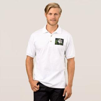 White Beach Plum Rose Polo Shirt