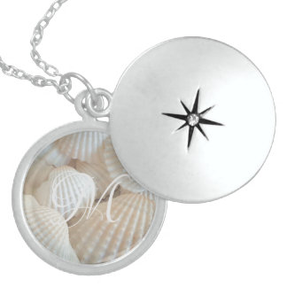 White Beach Shells Summer Tropical Exotic Locket Necklace