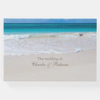 White Beach Wedding Guest Book