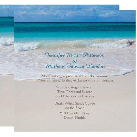 White Beach Wedding Invitation