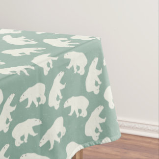 White bears pattern - Christmas gifts Tablecloth
