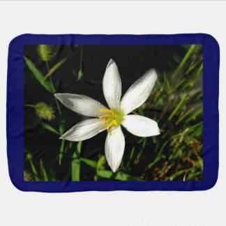 White Beauty Dark Blue Baby Blanket