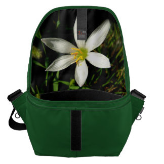 White Beauty Green Large Messenger Bag