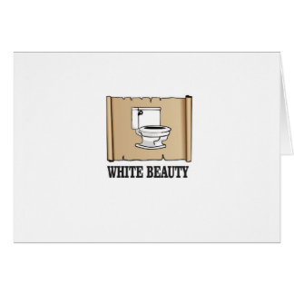 white beauty toilet card