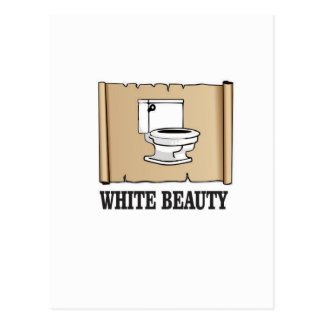 white beauty toilet postcard