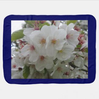 White Beauty White Flower Baby Blanket