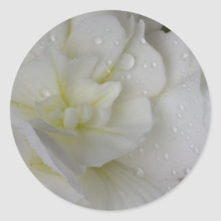 White Begonia Wedding Sticker