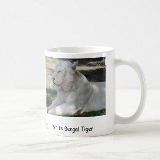 White Bengal Tiger Classic White Coffee Mug