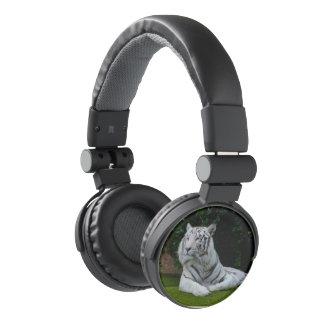 White Bengal Tiger Headphones