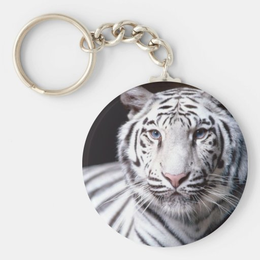 White Bengal Tiger Keychain