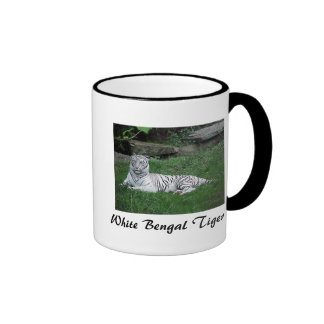 White Bengal Tiger Mugs