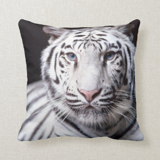 White Bengal Tiger Photography Throw Pillow