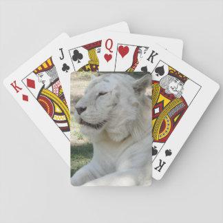 White Bengal Tiger Poker Deck
