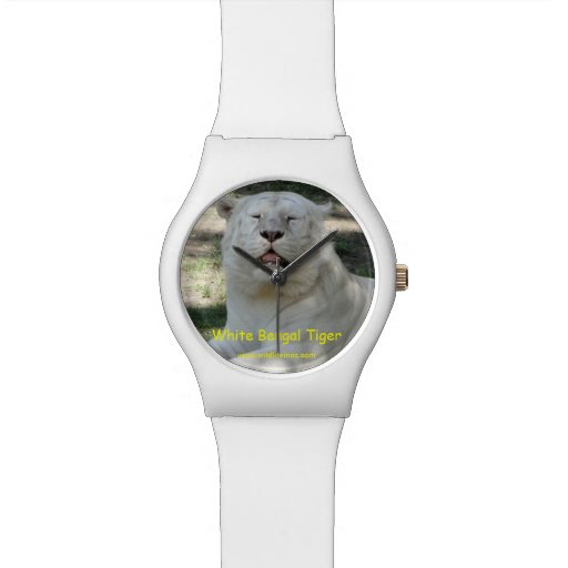 White Bengal Tiger Wrist Watches