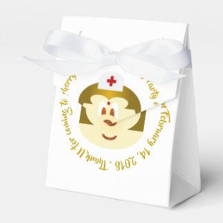 White Bg & Nurse 鮑 鮑 Tent Favor Box