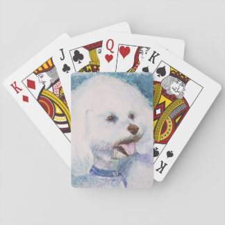 WHITE BICHON FRISE PLAYING CARDS