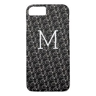 white bicycles monogrammed iPhone 7 case