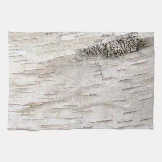 White Birch Bark Kitchen Towel