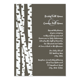 White Birch Tree/ Dark Brown Card