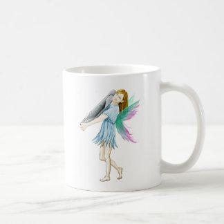 White Birch Tree Fairy Carrying Bark Coffee Mug