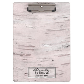 White Birch Tree Wood Rustic Barn Farmhouse Chic Clipboard
