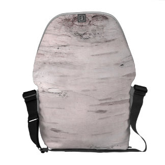 White Birch Tree Wood Rustic Barn Farmhouse Chic Courier Bags