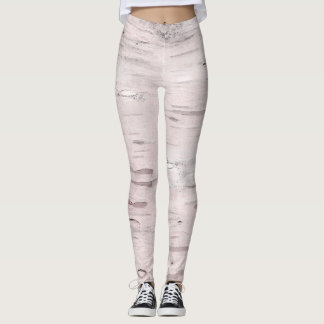 White Birch Tree Wood Rustic Barn Farmhouse Chic Leggings