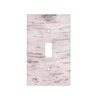 White Birch Tree Wood Rustic Barn Light Switch Cover
