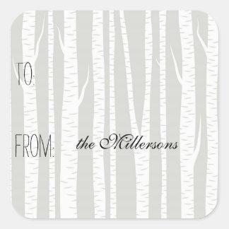 White Birch Trees Gift Tag
